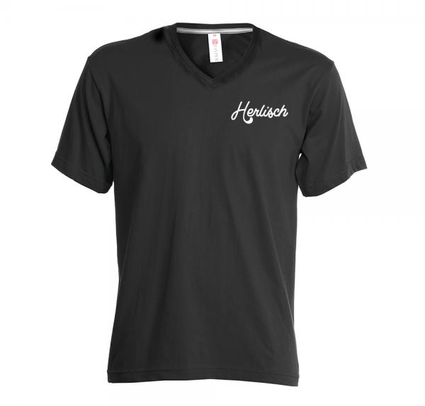 Herlisch -V-Neck-Shirt - Schwarz