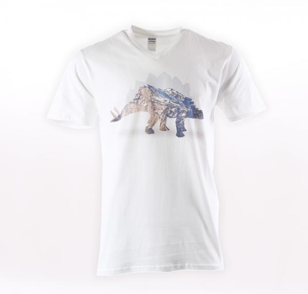 Dino Mountain - T-Shirt - Weiss