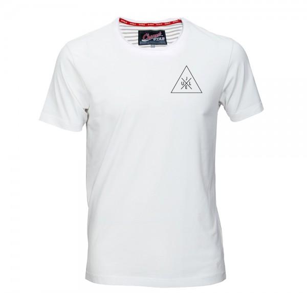 Ju LeX - Rollsaum-Shirt - Weiss