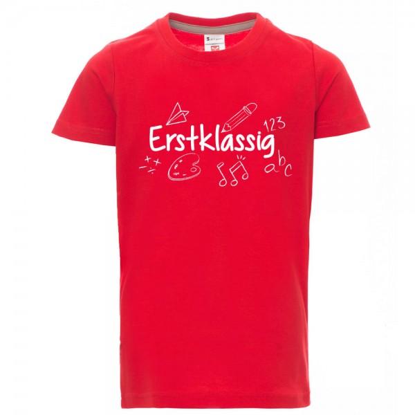 Erstklassig - Shirt - Rot