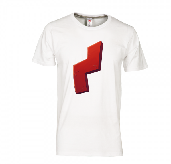 Red Scar - T-Shirt - Weiss