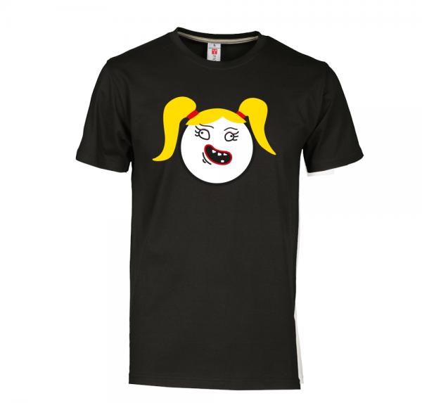 Smiley Mädel - T-Shirt - Schwarz