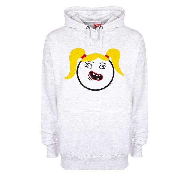 Smiley Mädel - Hoodie - Ash