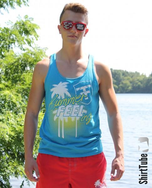 SummerFEELing - Tank Top - Blau