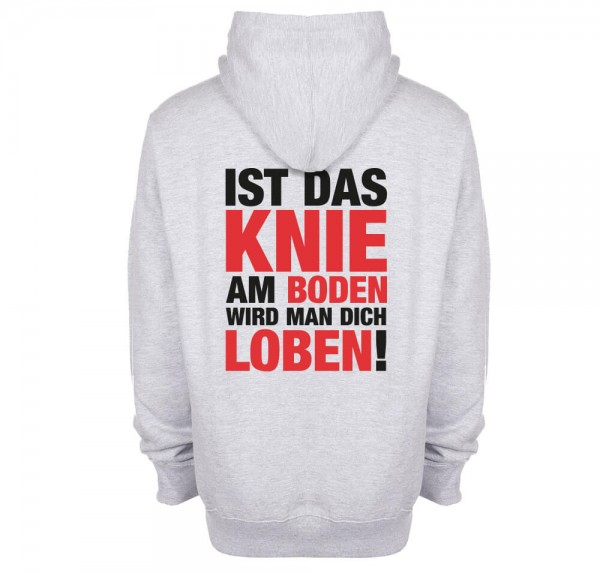 Knie am Boden - Hoodie - Sports Grey