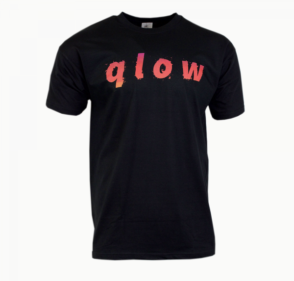 qlow red - T-Shirt - Schwarz