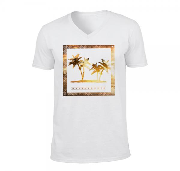 Hafensänger - V-Neck Shirt - Weiss