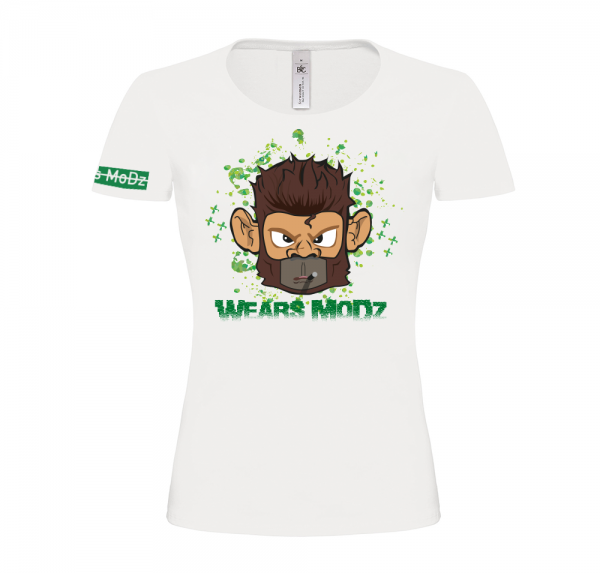 Monkey - T-Shirt Damen - Weiß