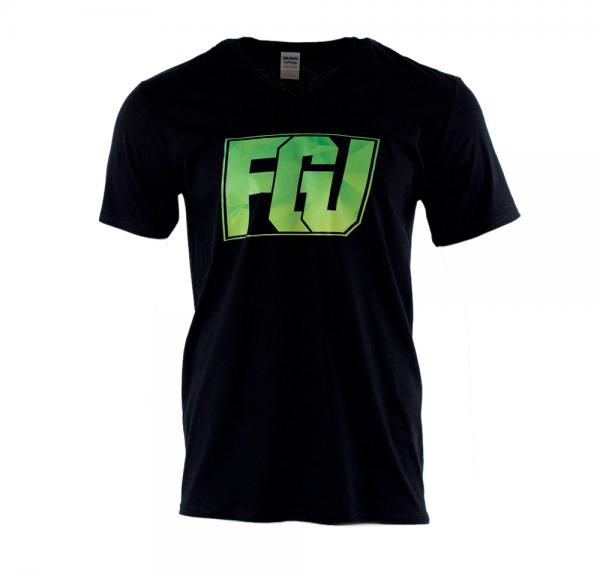 FGU gelb/grün - V-Neck-Shirt - Schwarz