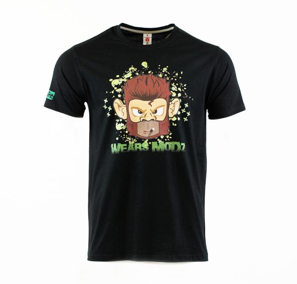 Monkey - T-Shirt Rundhals - Schwarz