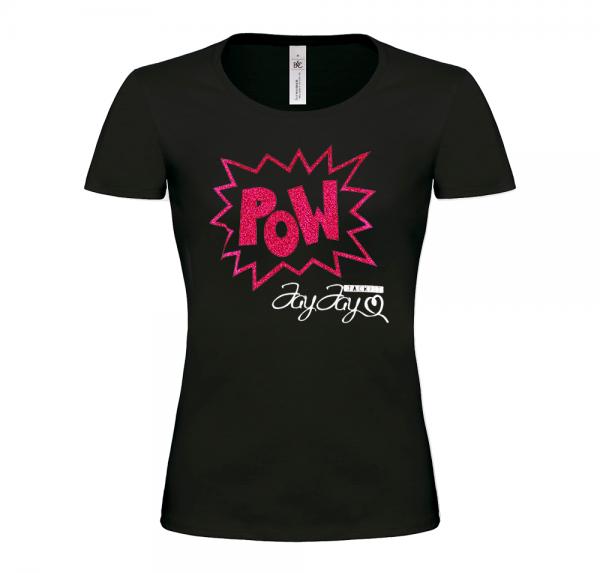 POW - T-Shirt Damen - Schwarz