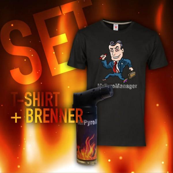 MrPyroManager - SET - T-Shirt + Brenner