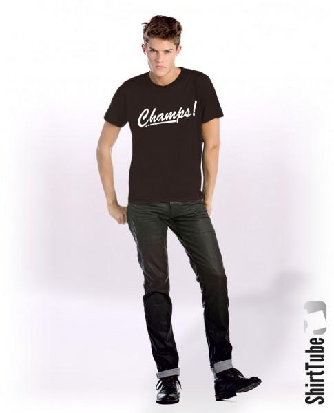 Champs! - T-Shirt - Schwarz