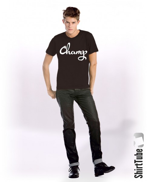 Curved Champ - T-Shirt - Schwarz