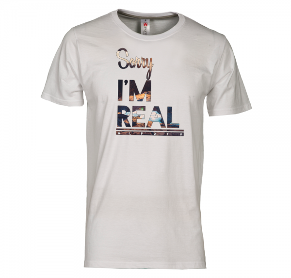 Sorry I'm Real - T-Shirt - Weiss