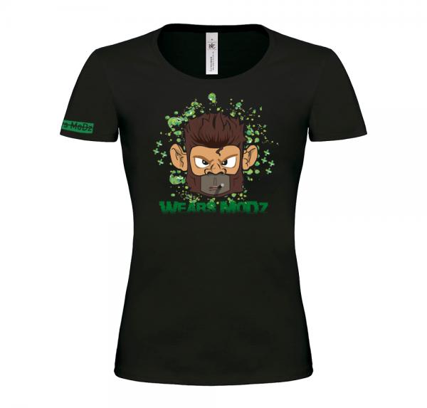 Monkey - T-Shirt Damen - Schwarz