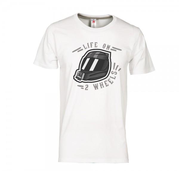 Helm - T-Shirt - Weiss