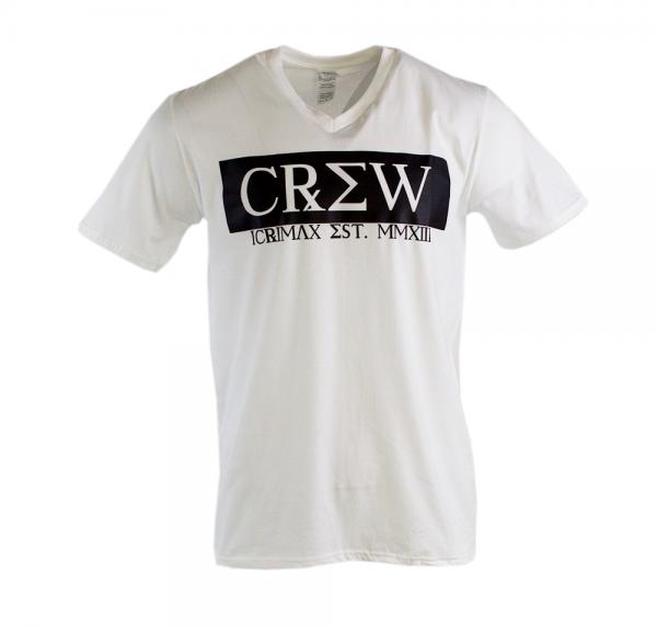 CREW - V-Neck-Shirt - Weiss