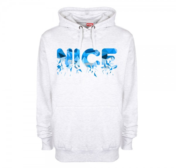 NICE Polygon Blau - Hoodie - Ash