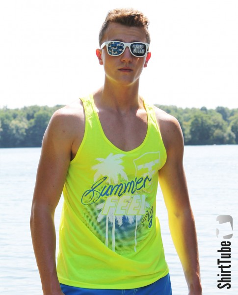SummerFEELing - Tank Top - Neon Gelb