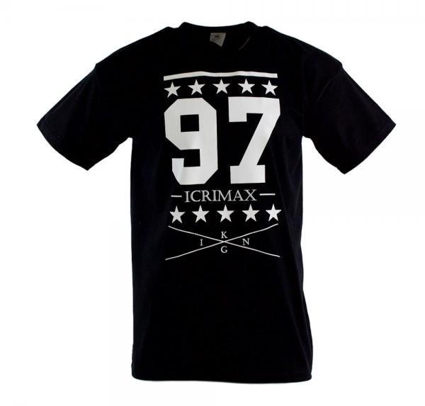 College 97 - T-Shirt - Schwarz