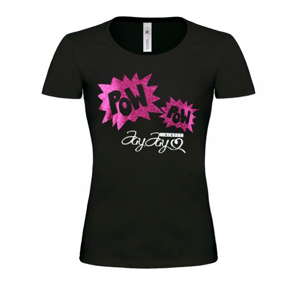 PowPow - T-Shirt Damen - Schwarz
