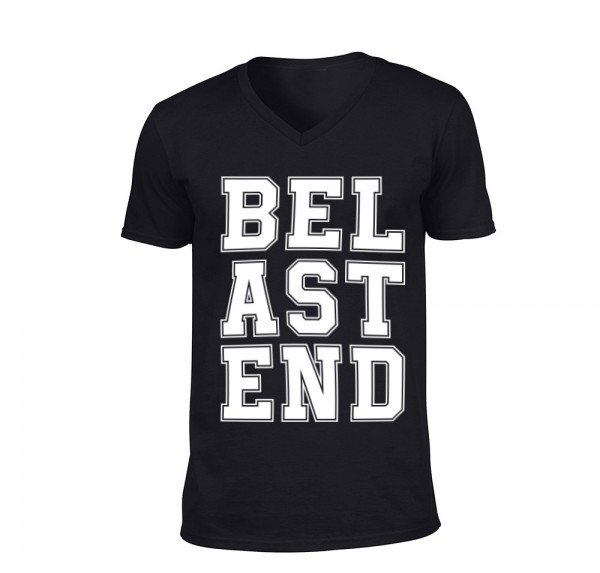 BELASTEND - V-Neck-Shirt - Schwarz