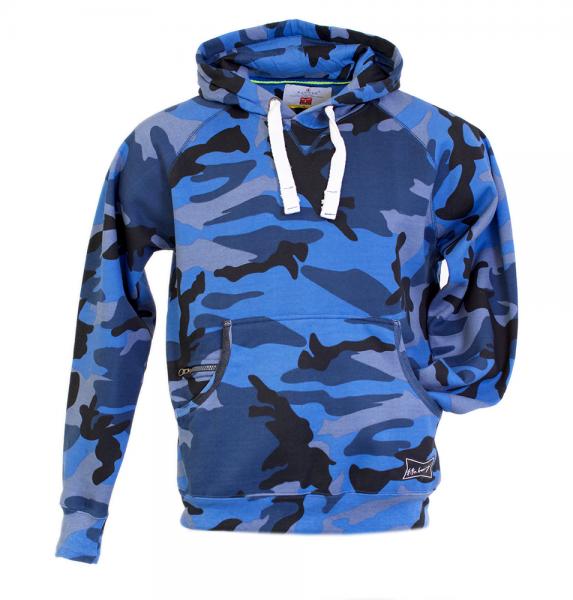 Camouflage Hoodie - Blau
