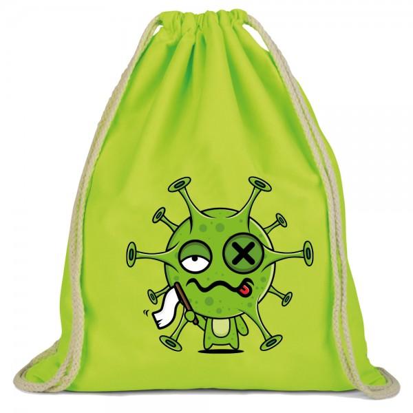 Virus gibt auf - Rucksackbeutel - Lime Green
