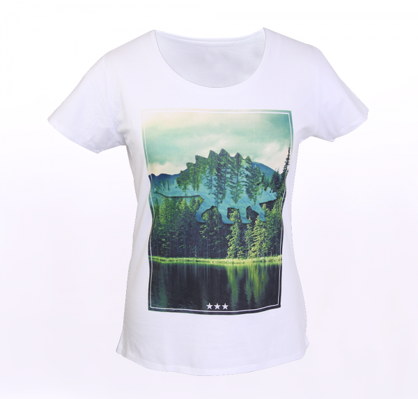 Nature - T-Shirt - Weiss - Damen