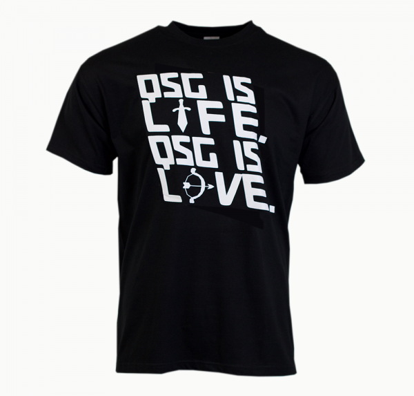 QSG is life - T-Shirt Unisex - Schwarz
