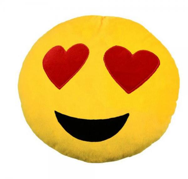 Emoji - Kissen - Verliebt
