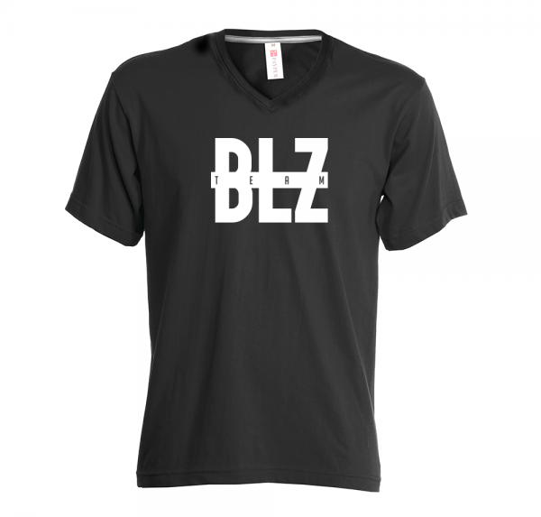 BLZ-TEAM - V-Neck-Shirt - Schwarz