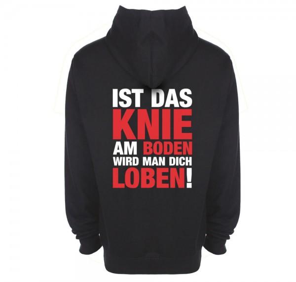 Knie am Boden - Hoodie - Schwarz