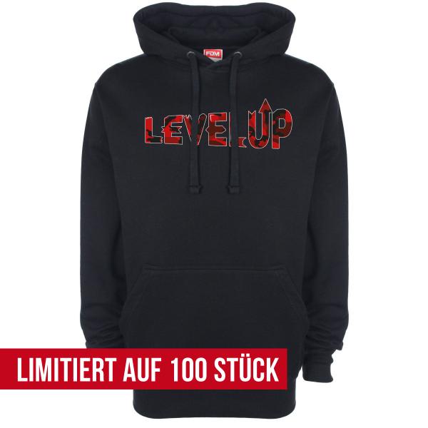 LevelUp Camo Rot - Hoodie - Schwarz
