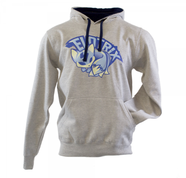 """ELoTRiX """"Blue Fox"""" - Hoodie - Heather Grau / Blau"""