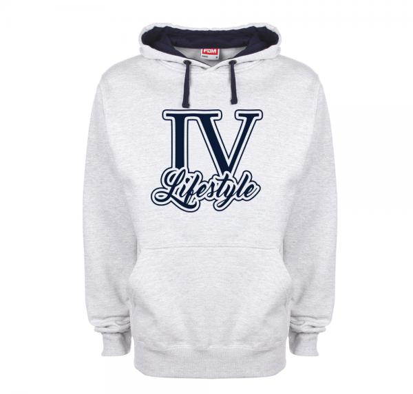 4Lifestyle - Contrast Hoodie - Grau/Navy