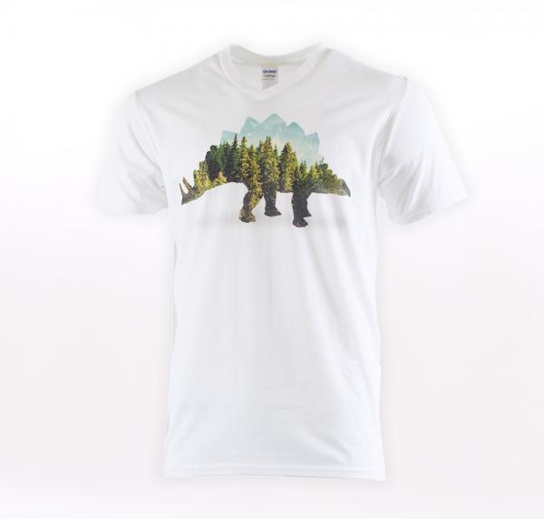Dino Forrest - T-Shirt - Weiss - Herren
