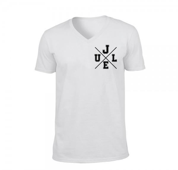 JG - V-Neck-Shirt - Weiss