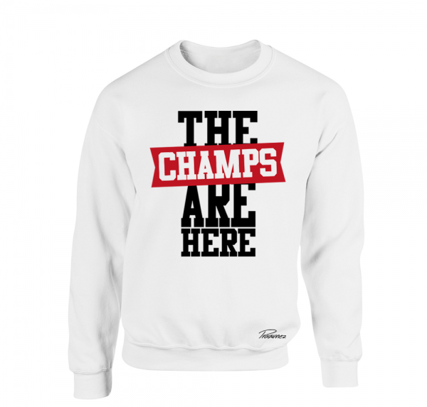 The Champs are here - Sweater - Weiss