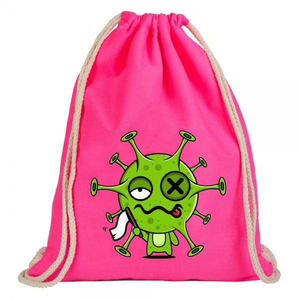 Virus gibt auf - Rucksackbeutel - Pink