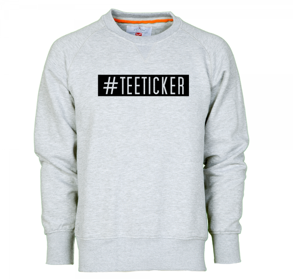 #TEETICKER - Sweater - Grau