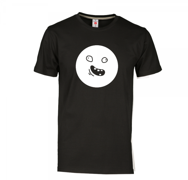 Smiley - T-Shirt - Schwarz
