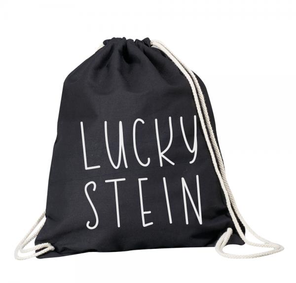 Luckystein - Rucksackbeutel - Schwarz