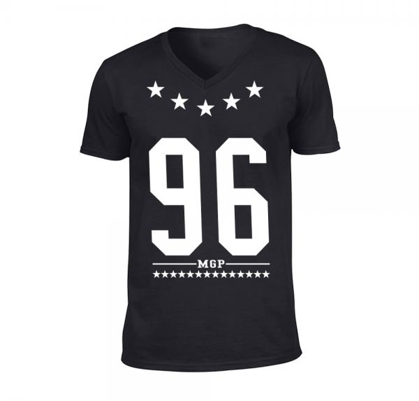 96 MGP - V-Neck-Shirt - Schwarz