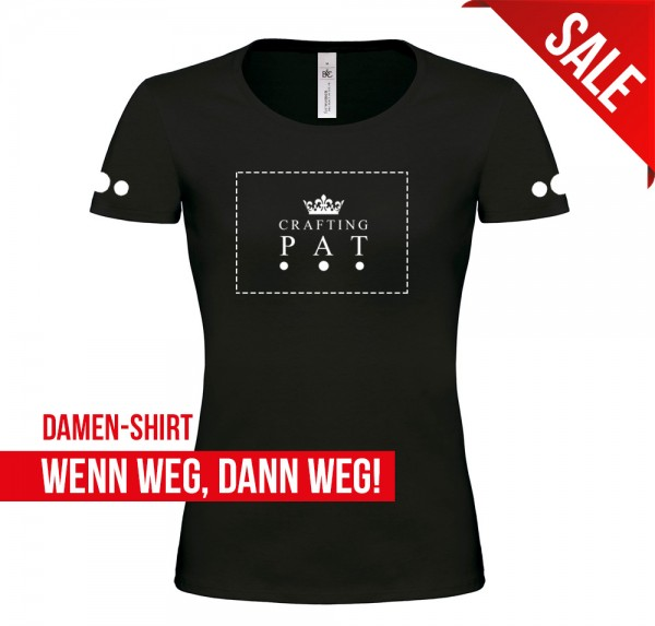 White Crown - Damen-Shirt - Schwarz