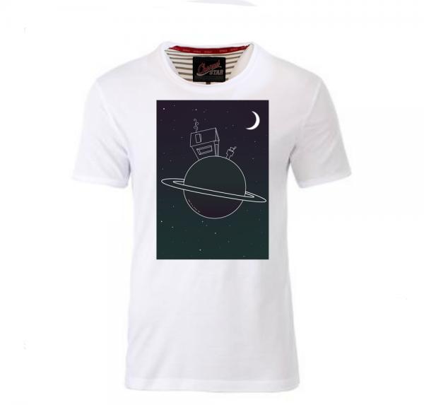 Planet - Shirt mit Rollsaum - Weiss