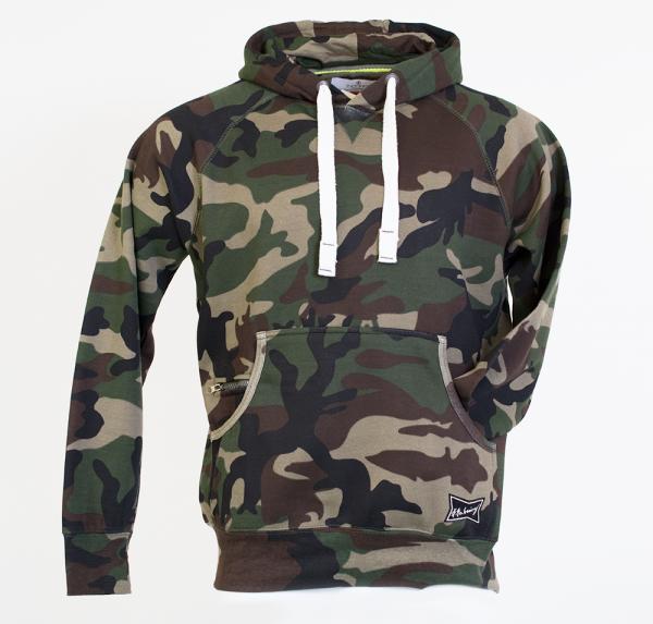 Camouflage Hoodie - Grün