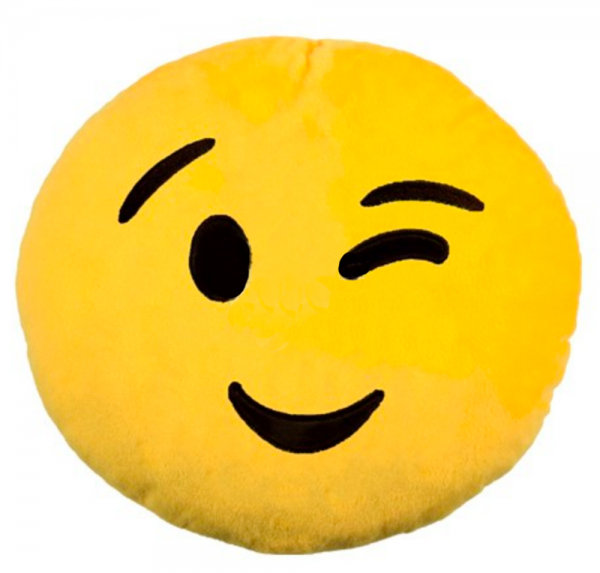 Emoji - Kissen - Zwinker