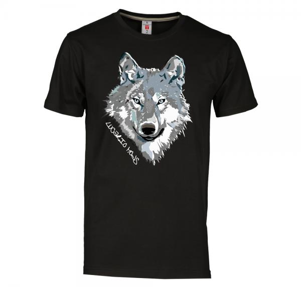 Wolf - T-Shirt - Schwarz